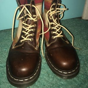 Dr. Martens x Pendleton southwest leather boots